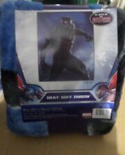 "New Marvel Black Panther Super Plush Soft Micro Raschel Throw Blanket 46/""x60/"""
