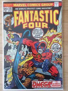 US Fantastic Four #132 (1973) - FN/VF - Black Bolt & Inhumans; last Roy Thomas