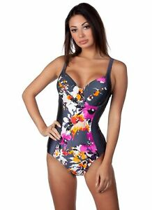 042aec8e388 Panache Women s Tallulah Floral Printed One-Piece Underwire Swimsuit ...