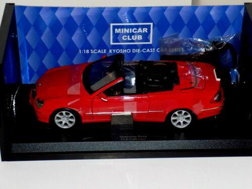 Mercedes-Benz CLK Cabriolet  Red KYOSHO  09003R  1:18