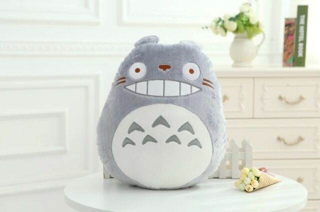 Super Cute Home Decor Warm Plush Stuffed Totoro Catoon Pillow for Christmas Gift