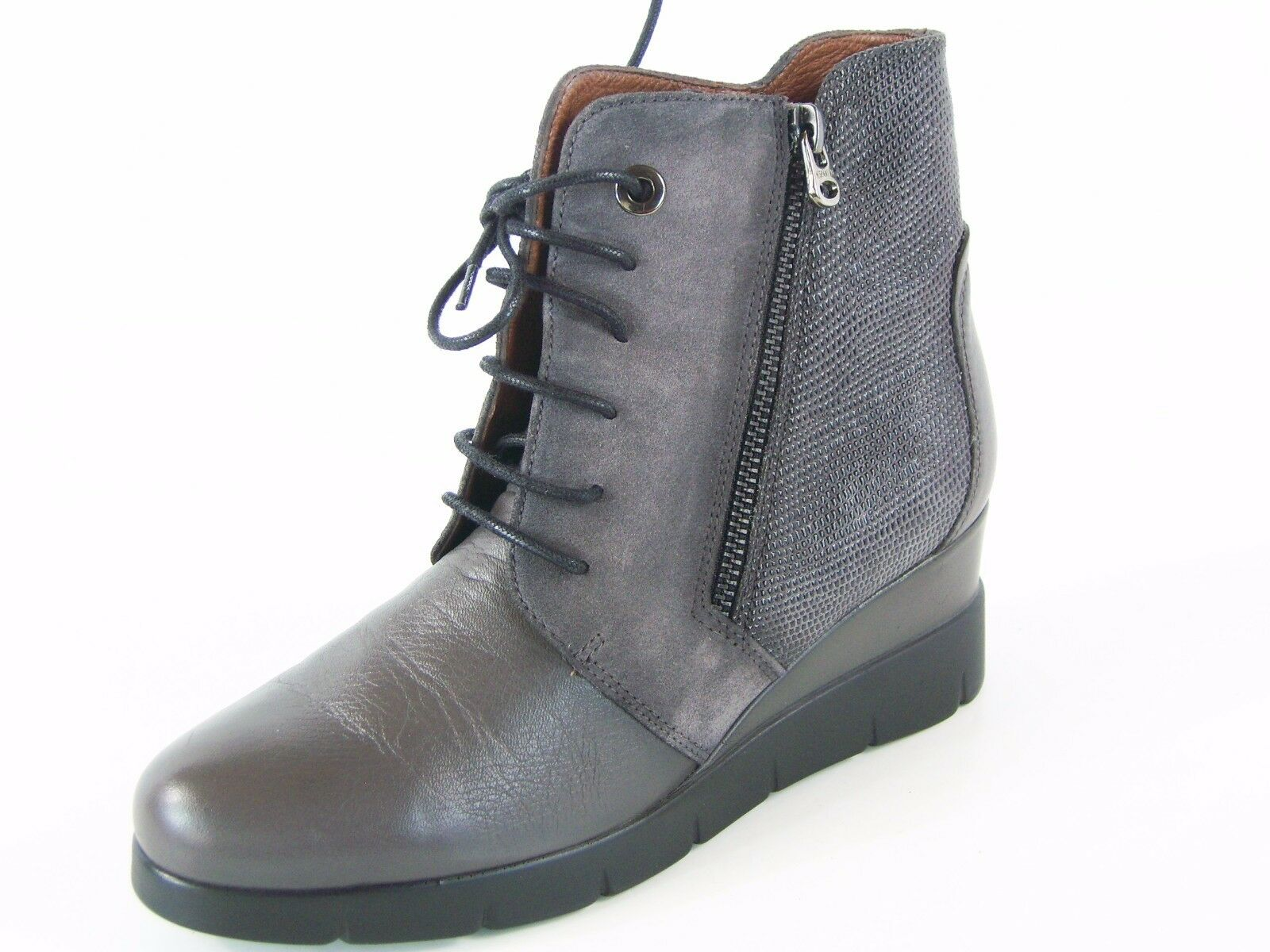 Hispanitas Lydia Women's Ankle Boot - Grey - Sz 6 M; 36 EU
