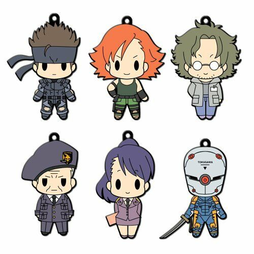 D4 Metal Gear Solid Rubber Key Holder Collection Vol.1 BOX japan