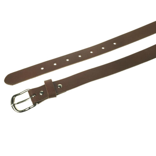 """MENS WOMENS 1/""""-25MM REAL LEATHER GENUINE MADE IN ENGLAND JEANS BELT"""