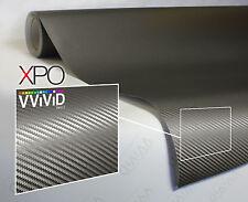 VViViD XPO Gray Carbon Fiber vinyl car wrap 6ft x 5ft decal sticker 3mil sheet
