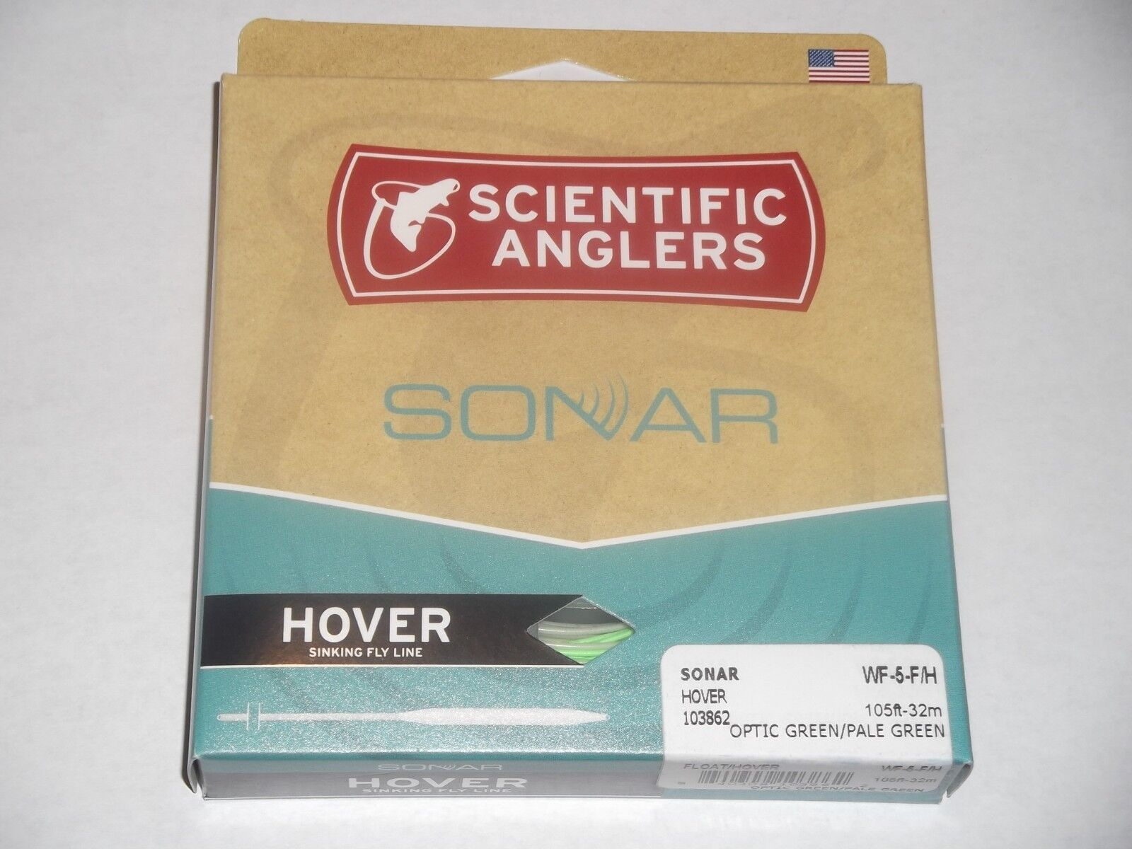 Scientific  Anglers sonar Hover WF-5-F H óptica verde verde pálido Línea De Pesca  echa un vistazo a los más baratos
