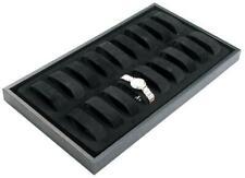 18 Slot Velvet Watch Tray Collars Black Jewelry Display Pawn Shop Retail