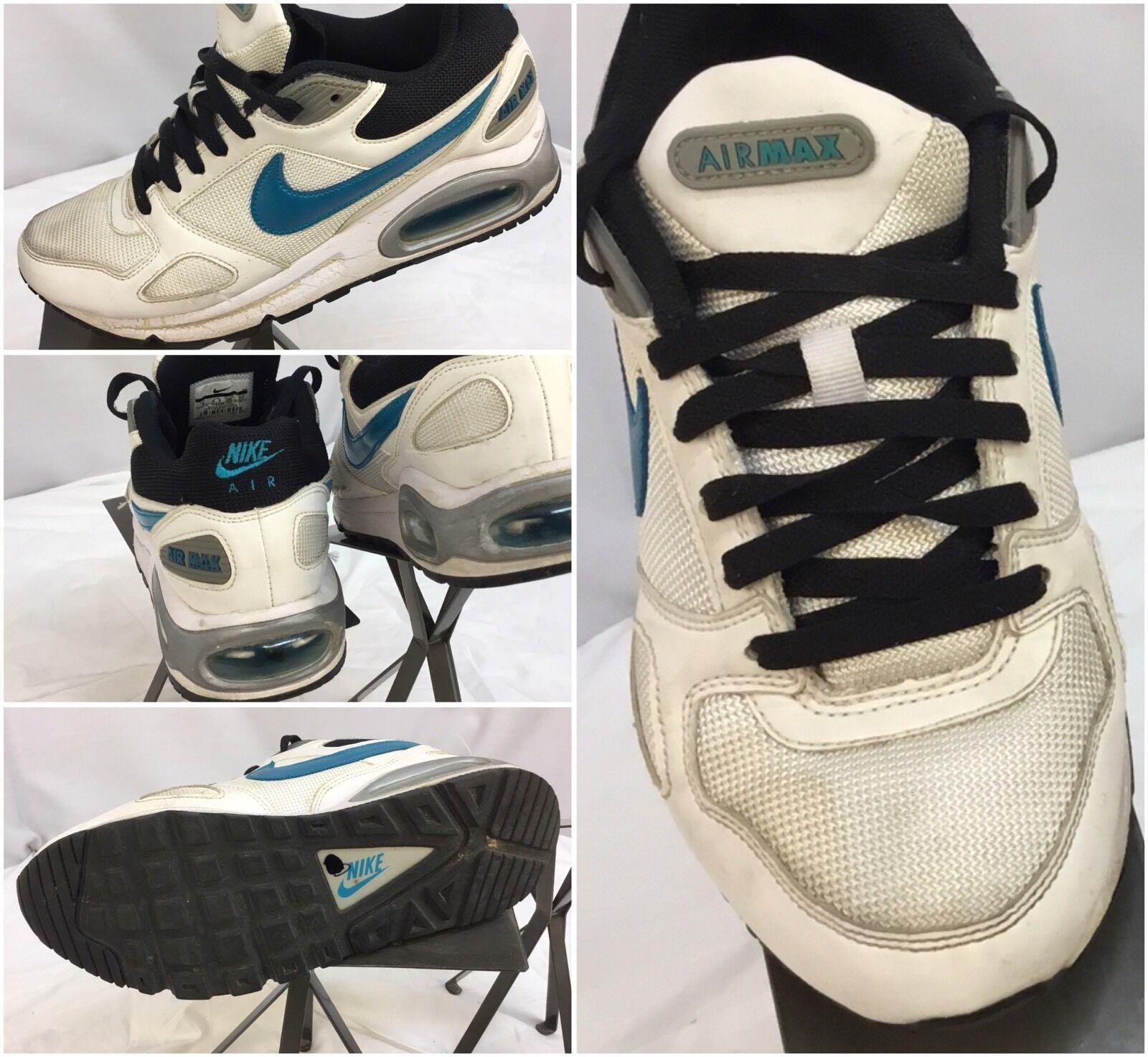 Nike Air Max Sz 8 Women Running Shoes White Blue Stripe EUC YGI C7-94