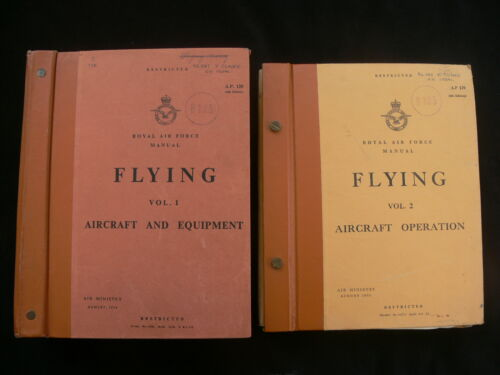 RAF Flying Manual Vol I & II 195455 Belonged to Victor B1 Pilot V Force 15 Sqdn