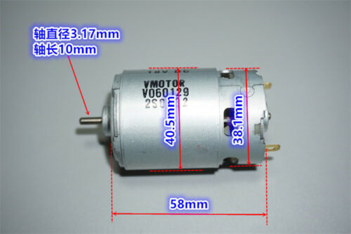 JOHNSON RS-550 DC 6V~18V 12V 12800RPM High Speed Power Large Torque Drill Motor