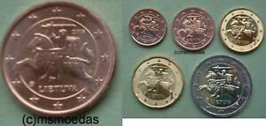 Litauen 1 Cent Münze 2016 5 X Euromünzen 2017 Mit 121020 Cent