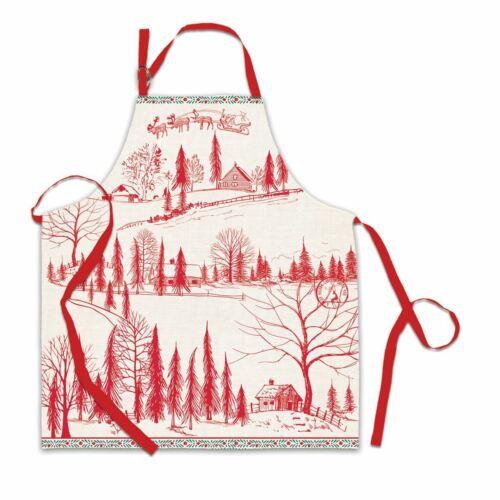 "Michel Design Works Apron /""Santa/'s Eve/"" Christmas//Holiday"