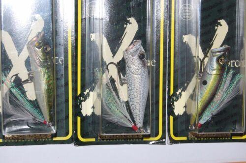 3 lures megabass pop x popx made in japan bass topwater popper 1//4oz assortment