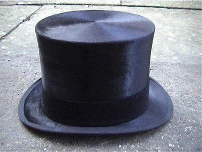 Disciplinato Woodrow Piccadilly London Nero Silk Top Hat Sz 6 7/8 Eccellente-mostra Il Titolo Originale Originale Al 100%