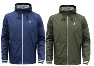 Mens-Big-Plus-Size-Kangol-Easton-Outdoor-Hooded-Zip-Jacket-2XL-3XL-4XL-5XL-6XL