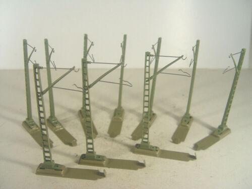 Gebr. 10 pezzi Oberleitungs rotte scotte-Märklin HO ACCESSORI 7009 #116
