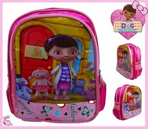 475dea1850a Image is loading DISNEY-JUNIOR-DOCTOR-MCSTUFFINS-NURSE-KID-PLUSH-BACKPACK-