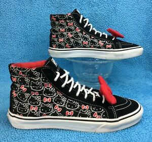 2842b41cc2 rare VANS X HELLO KITTY White Sanrio Anime SK8 HI old skool ATHENTIC ...