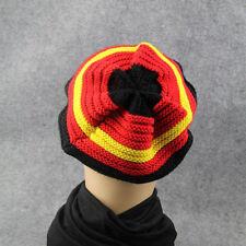 Colorful Men Women Baggy Slouchy Stripe  Beanie Soft Knit Hat Fashion Hat