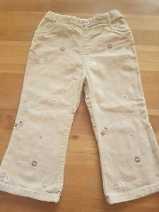 Girls-Toddlers-Cream-Beige-Flower-Pattern-Trousers-18-24-Months-mothercare