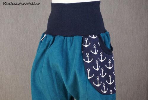 Pumphose Mitwachshose Handmade Cord Junge Maritim 50//56,62//68,74//80,86//92,98//104