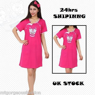 XL 12//14 LADIES  NIGHTIE NIGHT DRESS UK SIZES M L 10//12 XXL 14//16 8//10