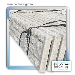 Gravel Board Rock Face or Plain Concrete Fence Panel 6ft x 1ft by NAR Fencing