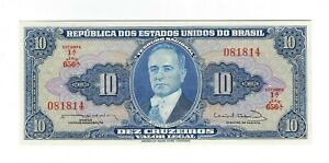 10 Cruzeiros Brésil UNC 1963 c020/p.167b - Brazil billet