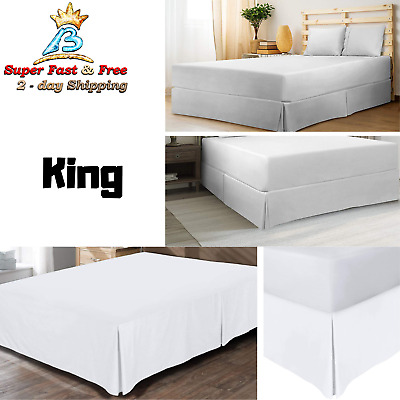 Hotel Quality,Wrinkle Free Extra Soft,Pleating Microfiber Bed Skirt