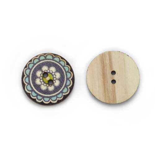 50pcs Retro Wood Buttons for Handwork Sewing Scrapbook Clothing Crafts Decor