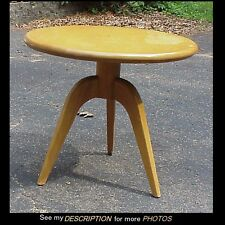 Scarce 1950-52 Heywood Wakefield Round Center Lamp Table M 393 G