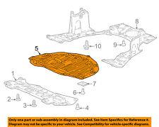 Acura HONDA OEM 13-15 RDX Splash Shield-Under Engine//Radiator Cover 74112TX4A01