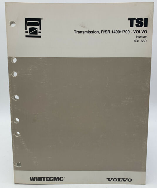 Volvo Transmission Service Manual Tsi R  Sr 1400  1700