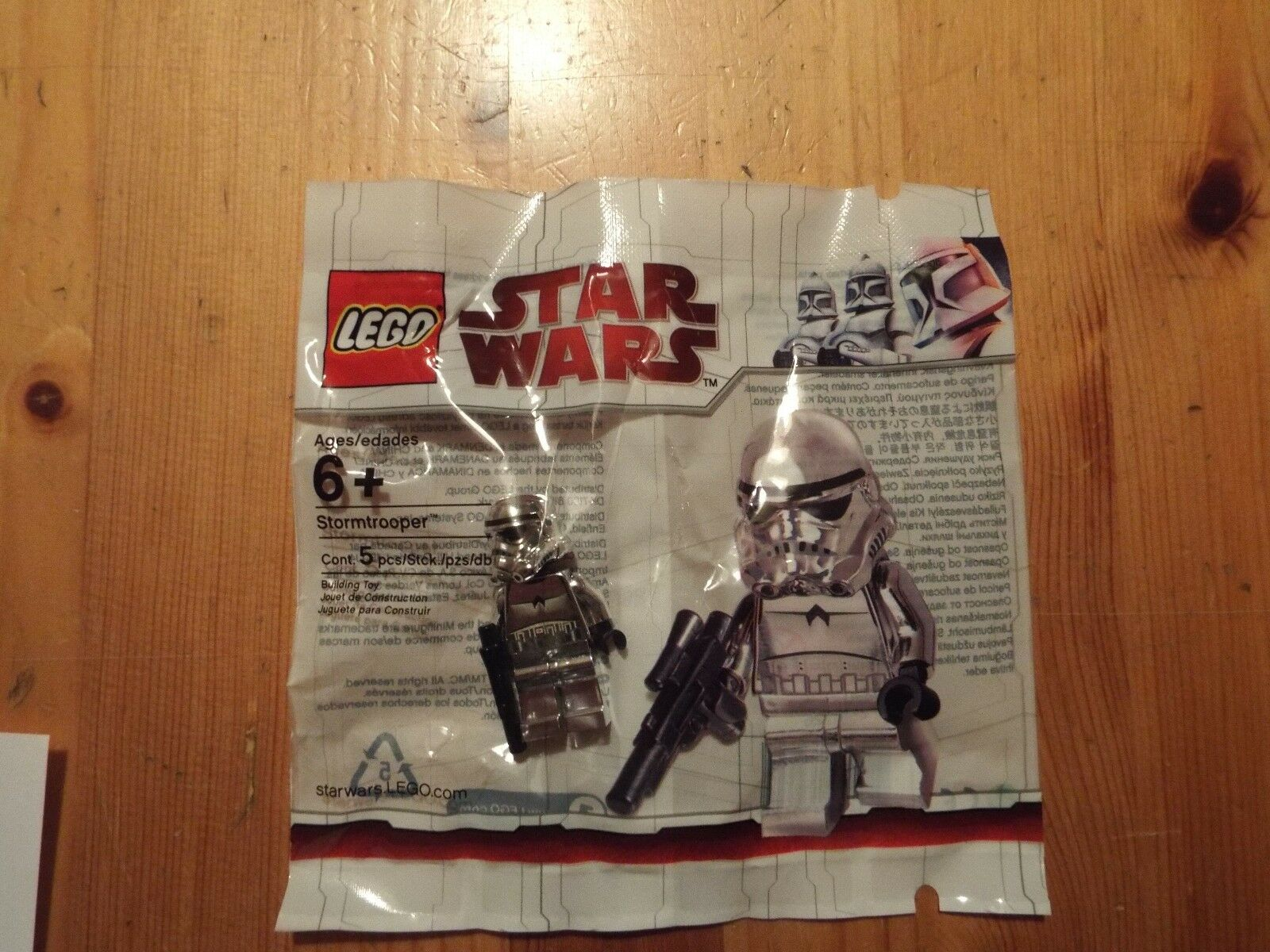 Lego Star Wars 2853590 Chrome Stormtrooper polybag  NOUVEAU & Sealed