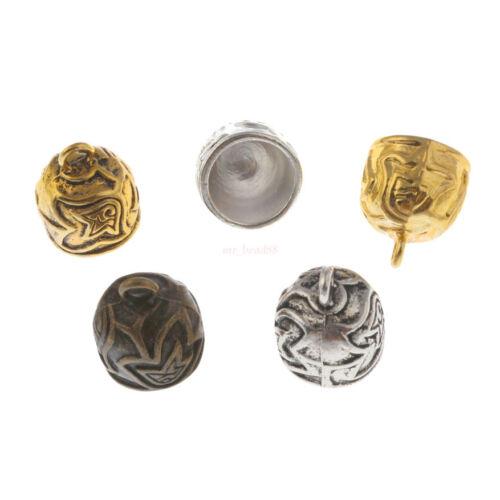 10Pc Craft Necklace Bracelet Leather Cord End Bead Cap Stopper Fit 12mm Bead Cap