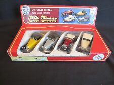 OLD TIMER Die Cast Metal Cars Pull Back Action Set of 4 ROAD TOUGH Yatming NIB