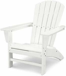 Polywood Patio Adirondack Chair Curveback Weather Resistant Plastic White