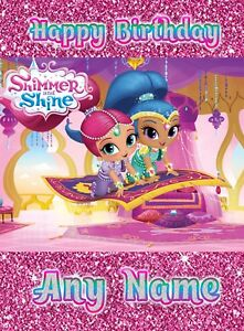 Image Is Loading Personalised Birthday Card Shimmer And Shine Childrens Girls