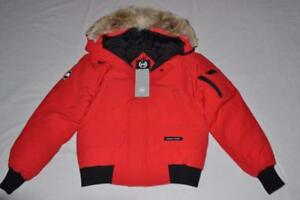 CANADA-GOOSE-MEN-039-S-CHILLIWACK-BOMBER-JACKET-RED-ROUGE-L-LARGE-AUTHENTIC-NEW