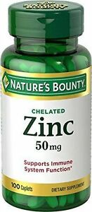 Nature S Bounty Chelated Zinc Tablets 50mg Ebay