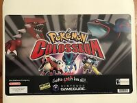 Nintendo Gamecube Pokemon Colosseum Store Ad Display Sign Sticker Cling Poster