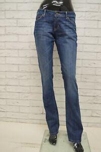 Jeans-KAPPA-Donna-Taglia-Size-29-Pants-Woman-Pantalone-Gamba-Dritta-Cotone-Blu