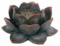 Lotus Incense Burner For Cones Or Sticks, Beautiful Detail, 4.25 Diameter