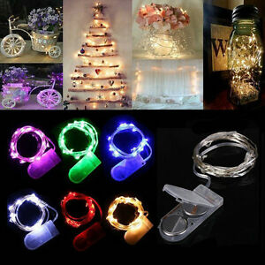 1M ~10 LED Battery Power Operated Copper Wire Mini Fairy Light String Xmas Decor