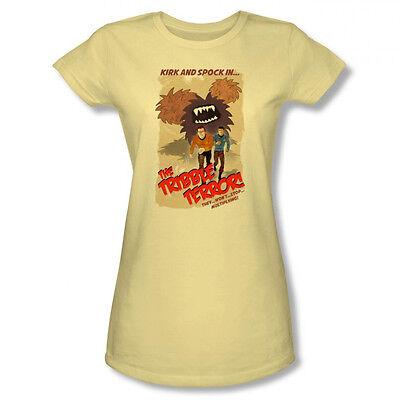 Star Trek Tribble Threat Movie Poster Kirk New CBS Licensed Junior Shirt S-XL