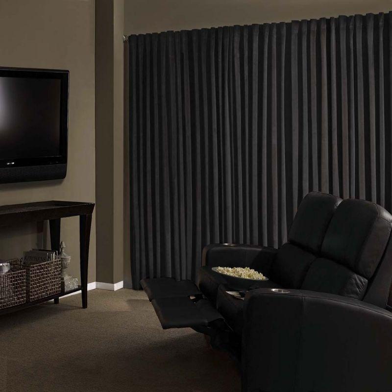Black Velvet Custom Panel Drape 15W X 8H Movie Theater Show Backdrop