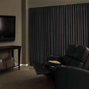 Black Velvet Custom Panel Drape 8Wx12H Photo Shoot Backdrop Curtain