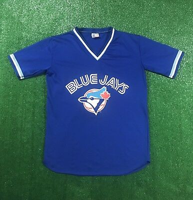 finest selection 22c78 5eb76 Vintage 80s Toronto Blue Jays Jersey Size Large MLB Baseball Mesh Canada  RARE | eBay