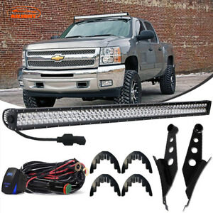 Details About Dot 50 Led Light Bar W Mount Brackets Wiring For 2014 16 Chevy Silverado 1500