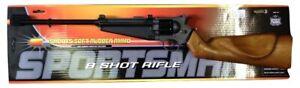 8 Shot Rifle Air Soft Airsoft Toy Fake Sportsman Machine Gun Replica Weapon Prop